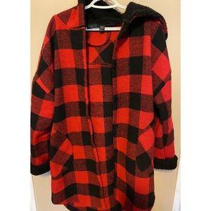 RD Style plaid coat